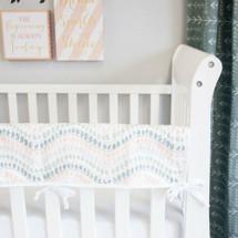 WOODLAND FOX Baby Crib Rail Protector
