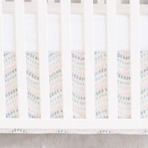WOODLAND FOX Crib Skirt - Jewel Dot