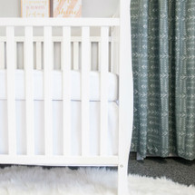 WOODLAND FOX Crib Skirt - White