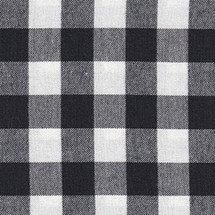 COZY PLAID Black and White Fabric