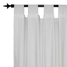 AQUILA - Long Nursery Drapes - Tab or Rod Top - Mini Star (Set of 2)