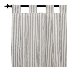 STARLET Long Nursery Drapes - Tab or Rod Top - Tan Stripe (Set of 2)