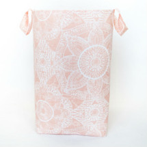 BOHO BLUSH Soft Nursery Hamper - Zara Sun with White Slub Lining