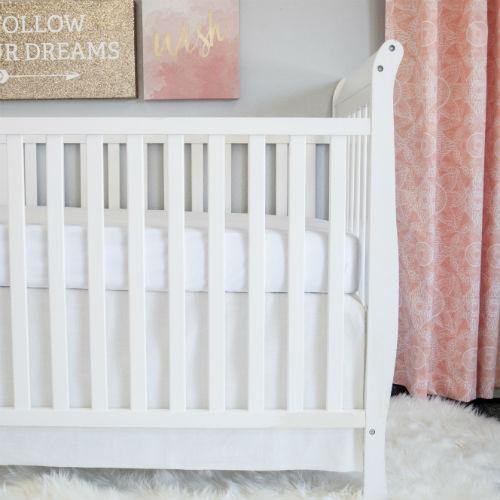 100% Premium Cotton Crib Skirt