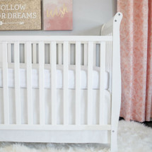 100% Premium Cotton Crib Skirt