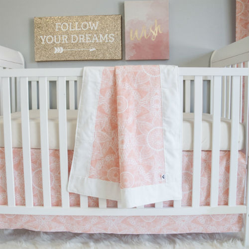 The perfect look -- Blanket, crib skirt & sheet