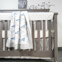 LITTLE BIRD 4PC Set (Blanket, Skirt, Sheet, & Rail Protector)