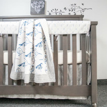 LITTLE BIRD 4PC Set (Blanket, Skirt, Sheet & Rail Protector)