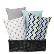CHEVRON NAVY Nursery Pillow - Lumbar Style