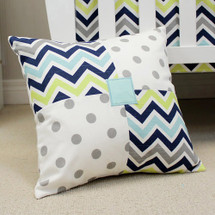 CHEVRON NAVY Nursery Pillow - Patch