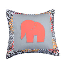 RIO Elephant Appliqued Nursery Pillow