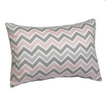 CHEVRON PINK Lumbar Nursery Pillow