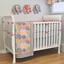RIO Crib 4 PC Set Crib Bedding - includes Bumper Pad