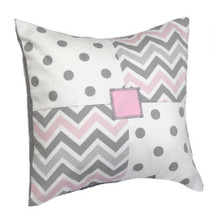 CHEVRON PINK Patch Decor Nursery Pillow
