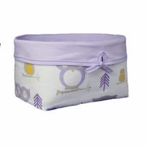 HOOTY LILAC Owl Soft Nursery Basket