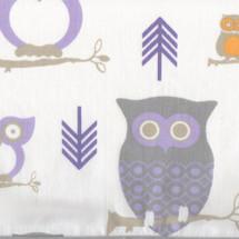 HOOTY LILAC Owl Fabric