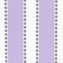 HOOTY LILAC Dotty-Stripe Fabric