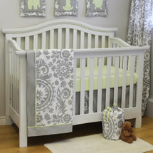 DOVE 3 PC Set Crib Bedding - Bumperless