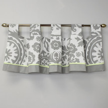 "DOVE 86"" Tab Top Nursery Valance"