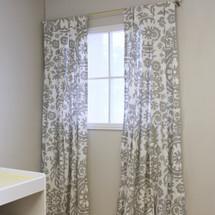 DOVE Long Nursery Drapes - Dove Fabric  (Set of 2)