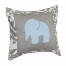 DOVE Elephant Applique Nursery Pillow