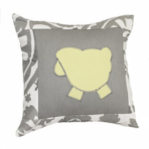 DOVE Lammy Applique Nursery Pillow