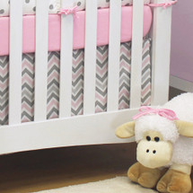 CHEVRON PINK Crib Skirt