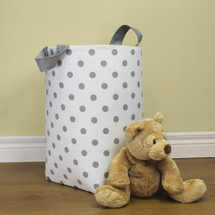 GREY DOT Clothes or Toy Nursery Hamper