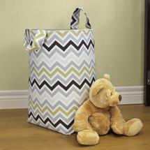 CHEVRON GREY Clothes or Toy Nursery Hamper