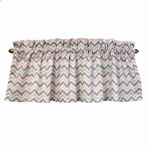 "CHEVRON PINK 52"" Nursery Panel Valance"