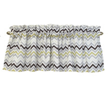 "CHEVRON GREY 52"" Nursery Panel Valance"