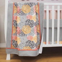 RIO Baby Crib Blanket with Border