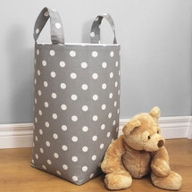 RIO Dark Dot Clothes or Toy Nursery Hamper