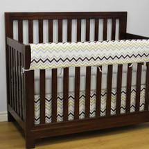 CHEVRON GREY Baby Crib Rail Protector