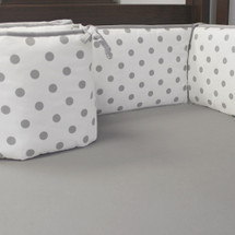 CHEVRON GREY Baby Crib Bumper Pads