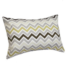 CHEVRON GREY Lumbar Nursery Pillow