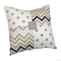CHEVRON GREY Patch Decor Nursery Pillow
