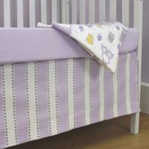 HOOTY LILAC  Crib Skirt
