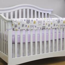 HOOTY LILAC Baby Crib Rail Protector