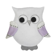 "HOOTY LILAC  White ""Hootlet"" Wall Art"