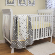 MOXY LEMON 3 PC Set Crib Bedding - Bumperless