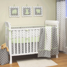 MOXY KIWI 4 PC Set Crib Bedding