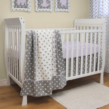 MOXY LILAC 3 PC Set Crib Bedding - Bumperless