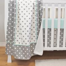 MOXY AQUA Baby Crib Blanket