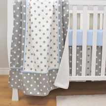 MOXY BLUE Baby Crib Blanket