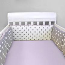 MOXY LILAC Baby Crib Bumper Pads