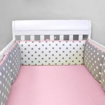 MOXY PINK Baby Crib Bumper Pads