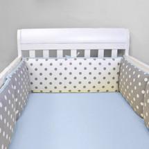 MOXY BLUE Baby Crib Bumper Pads