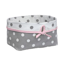 MOXY PINK Dark Soft Nursery Basket
