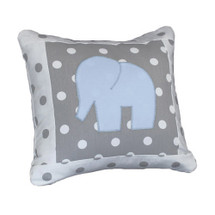 MOXY BLUE  Elephant Applique Nursery Pillow